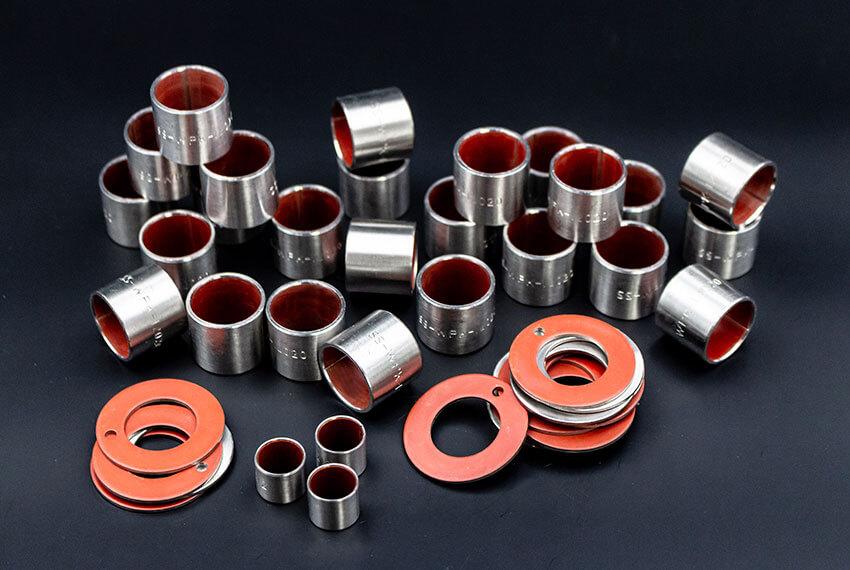 Gleitlager der WPK1-S-Serie: Anlaufscheiben und Zylinderbuchsen