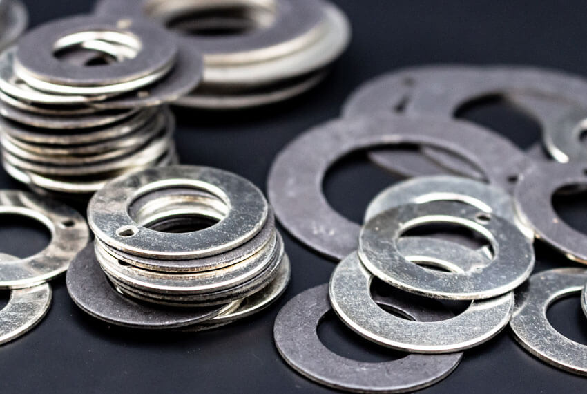 Gleitlager Anlaufscheiben WPK1-W-Serie aus Stahl