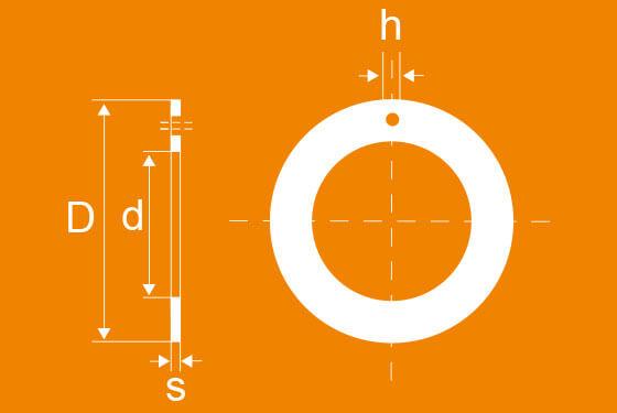 Technische Zeichnung der WPK Anlaufscheiben