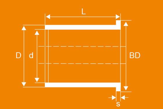 Technische Zeichnung der WPK Bundbuchsen