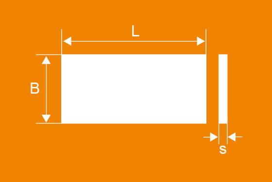 Technische Zeichnung der WPK Gleitstreifen