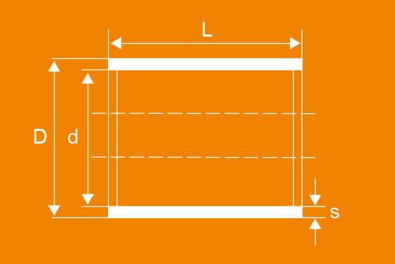 Technische Zeichnung der WPK Zylinderbuchsen